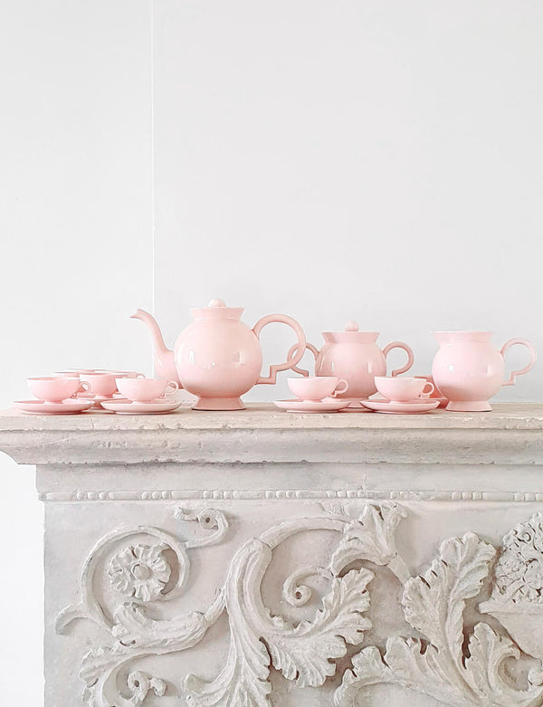 1930s Pink 'Barbara' Richard Ginori Coffee Service