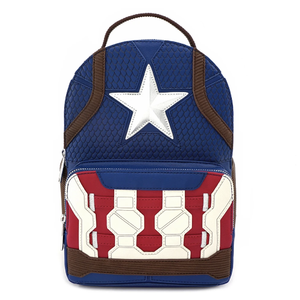 Loungefly X Marvel Endgame Hero Captain America Cosplay Backpack