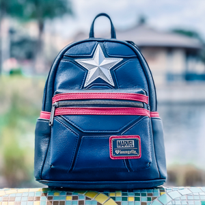 LIMITED EDITION - Loungefly Marvel Captain America Mini-Backpack (Pre-Order)