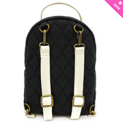 Loungefly - Black and White Princess Silhouette Quilted Mini-Backpack