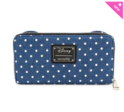 Loungefly - Denim Minnie Mouse Polka Dot Wallet