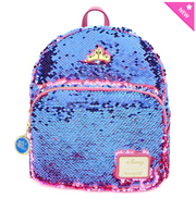 Loungefly - Sleeping Beauty Pink/Blue Reversible Sequined Mini-Backpack