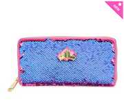 Loungefly - Sleeping Beauty Pink/Blue Reversible Sequined Wallet