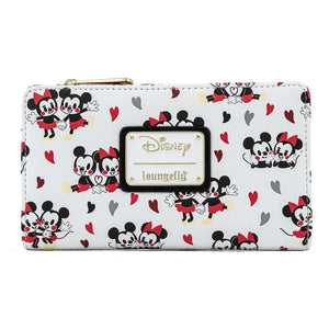 Disney Mickey & Minnie Mouse Love AOP Flap Wallet