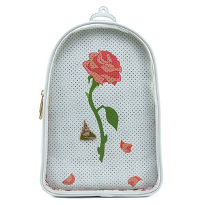 Loungefly Disney Beauty and the Beast Pin Trader Mini Backpack