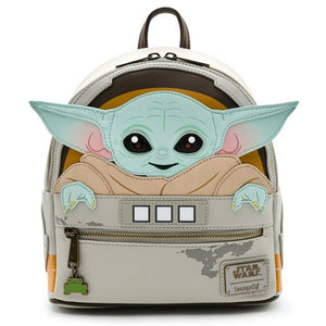 "Loungefly - Star Wars The Mandalorian Baby Yoda ""The Child"" Mini Backpack"