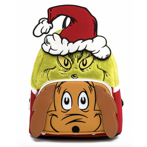 Loungefly The Grinch and Max Cosplay Mini Backpack