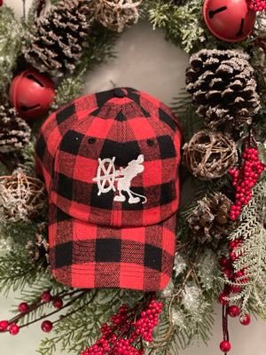 Bibbidi X Doodlebug Boutique Red Buffalo Plaid Hat