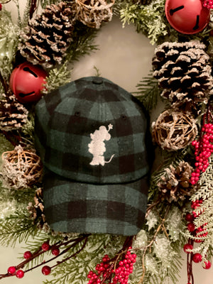 Bibbidi X Doodlebug Boutique Green Buffalo Plaid Hat