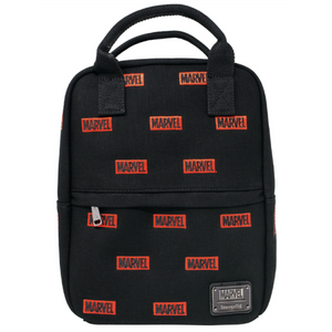 Loungefly x Marvel Canvas AOP Logo Mini-Backpack