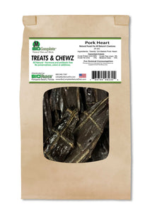 Bio Treats & Chews Natural Pork Heart Treats 4 oz