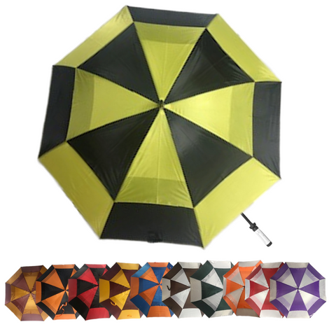 "60"" Two-Toned Double Canopy Golf Umbrella"