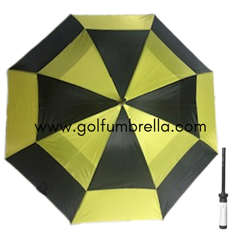 "60"" Two-Toned Double Canopy Golf Umbrella (Bulk 25)"