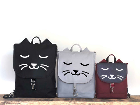 Cat style bohemian backpack sizes