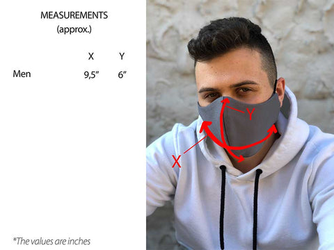Face Mask Men size chart