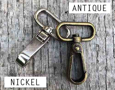 Difference between Nickel and antique brass