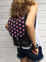 Bohemian polka dots backpack by Aris Bags