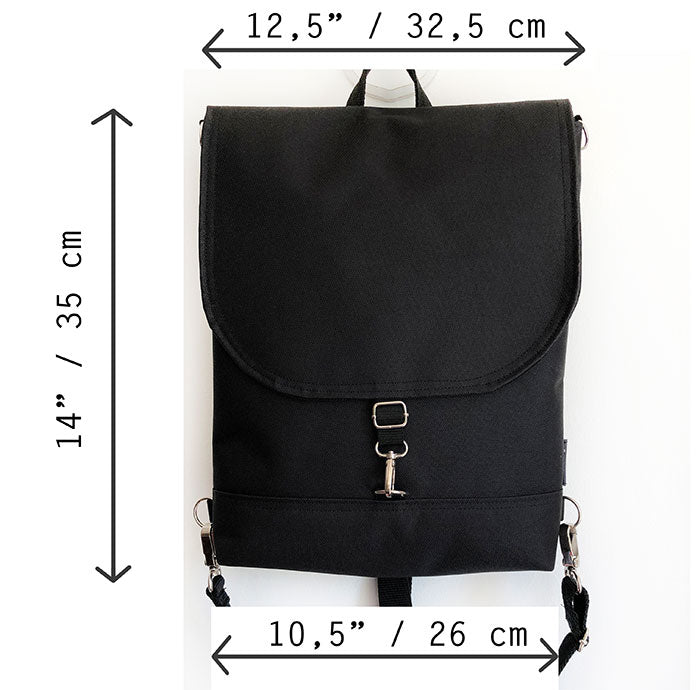 Dimensions of the backpack