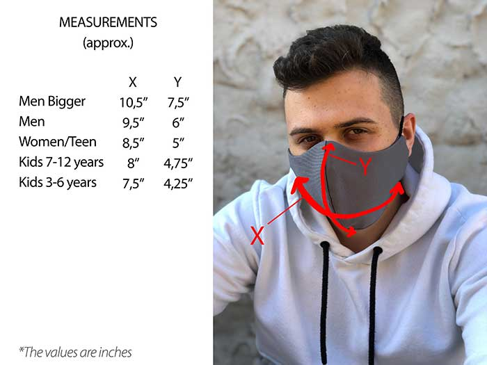 Face Mask dimensions
