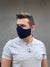 Mens NAvy blue face mask made from 100% cotton fabric