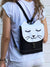 Black White Cat Backpack, Personalized Cross Body Bag | Aris Bags - Aris Bags