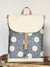 Designer Women's Backpack with Daisy floral | Aris Bags - Aris Bags