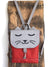 Grey Red Cat Backpack, Personalized Cross Body Bag | Aris Bags - Aris Bags