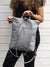 Grey Women's Customizable Backpack, Multipurpose Cross Body Bag | Aris Bags - Aris Bags