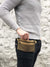 Personalized Minimalist Belt Bag, Waxed Canvas Cross Body Bag | Aris Bags - Aris Bags