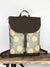 Sunflower Olive Green Boho Backpack Cross Body Bag | Aris Bags - Aris Bags