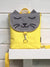 Yellow Grey Cat Backpack and Purse, Cat Lovers Cross Body Bag | Aris Bags - Aris Bags