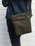 Forest Green Waxed Canvas Cross Body Bag | Aris Bags - Aris Bags