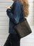 Black and Forest Waxed Canvas Cross Body Bag, Vegan Purse | Aris Bags - Aris Bags