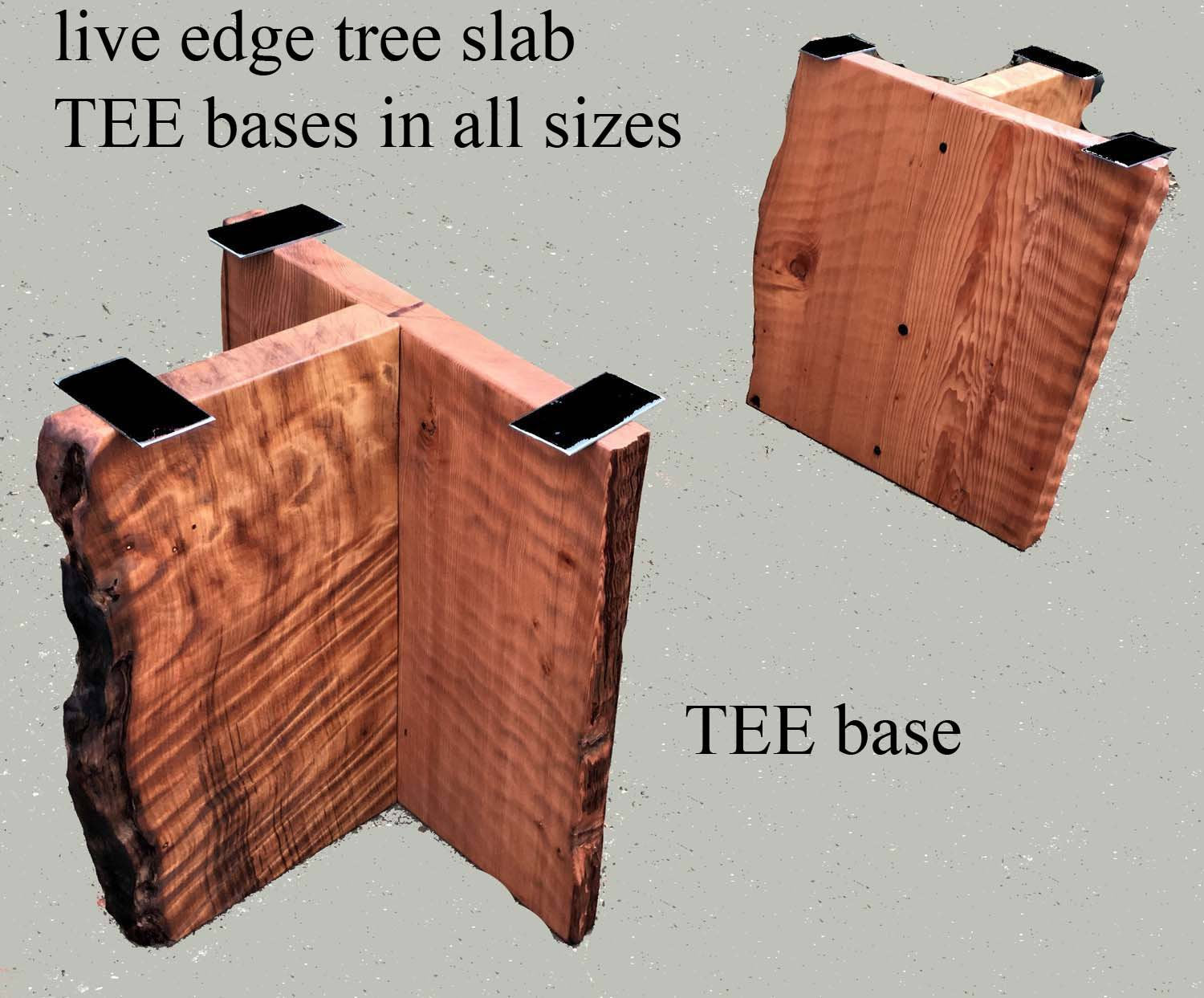 live edge bases | rustic table base | burl bases - teebase1