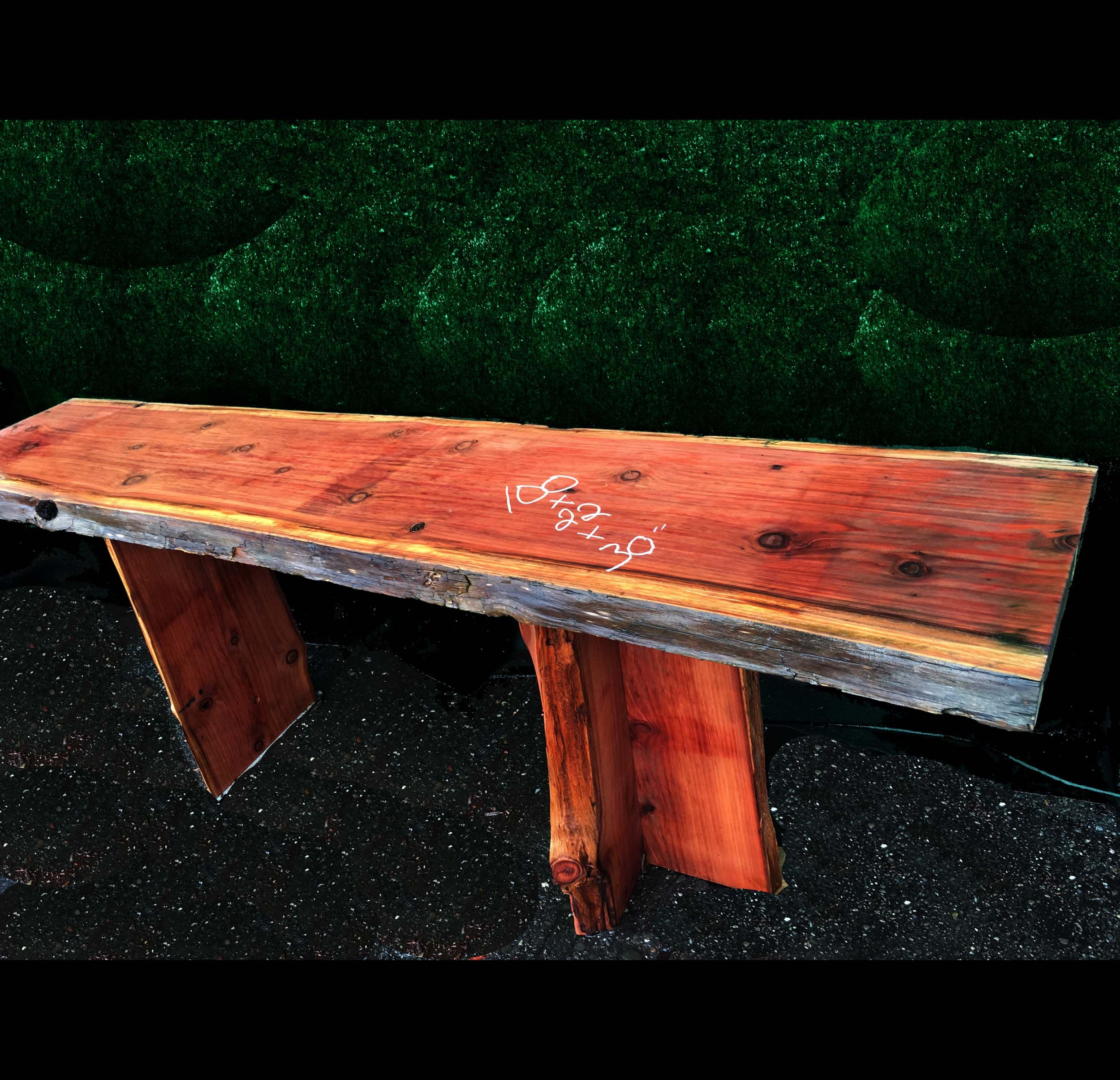 live edge dining table | rustic table - bt110