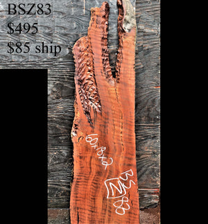 wall decoration | redwood slab - bsz83