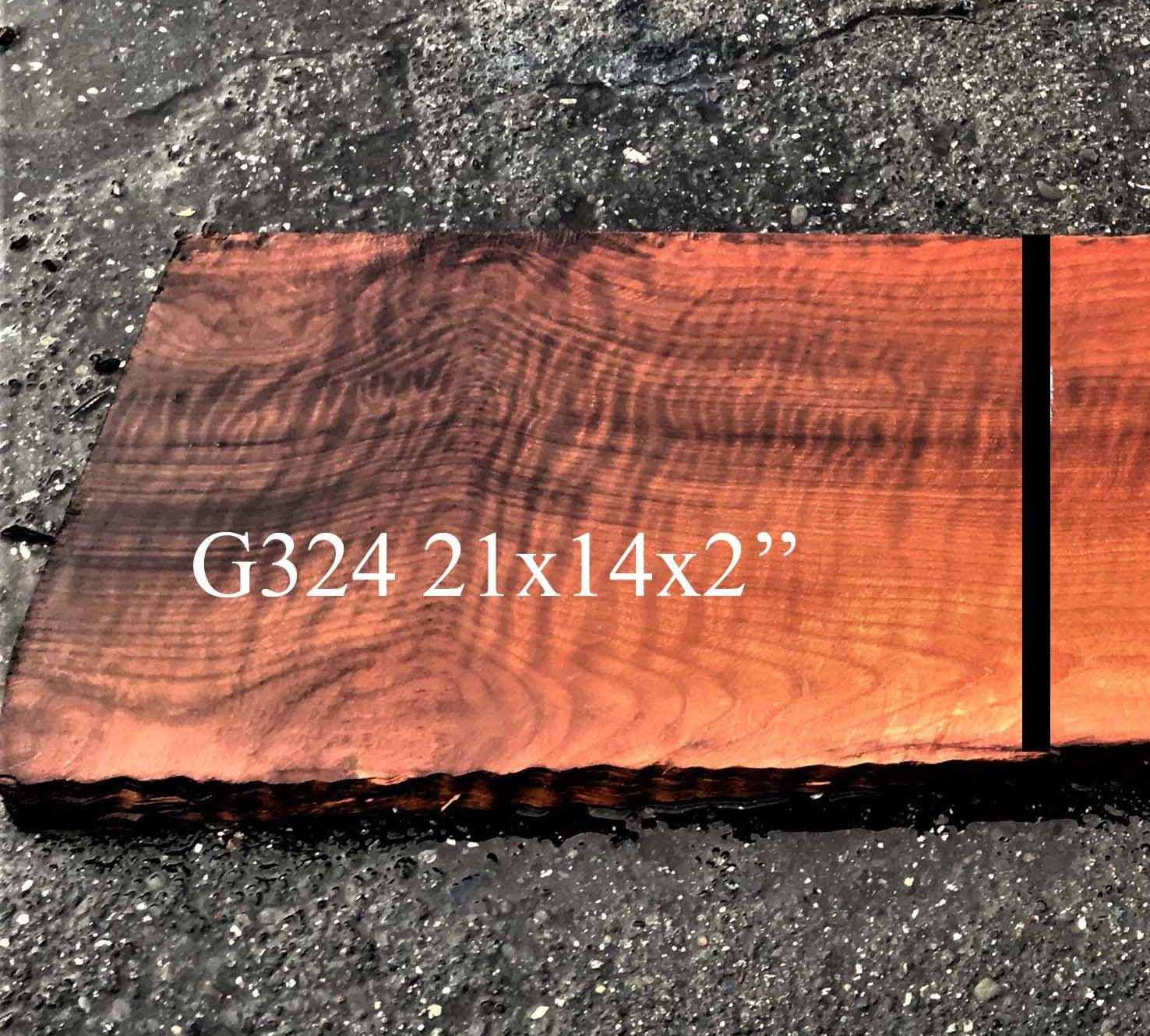 Guitar billet | quilted redwood | luthier woods | wood crafts - g324