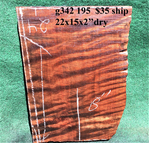 GUITAR BILLET | quilted curly redwood - g342