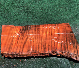 Quilted redwood | guitar billet | g350