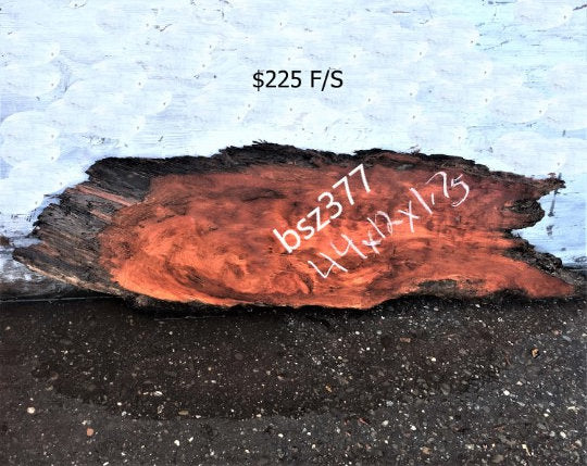 live edge slab | river table | redwood  burl - bsz377
