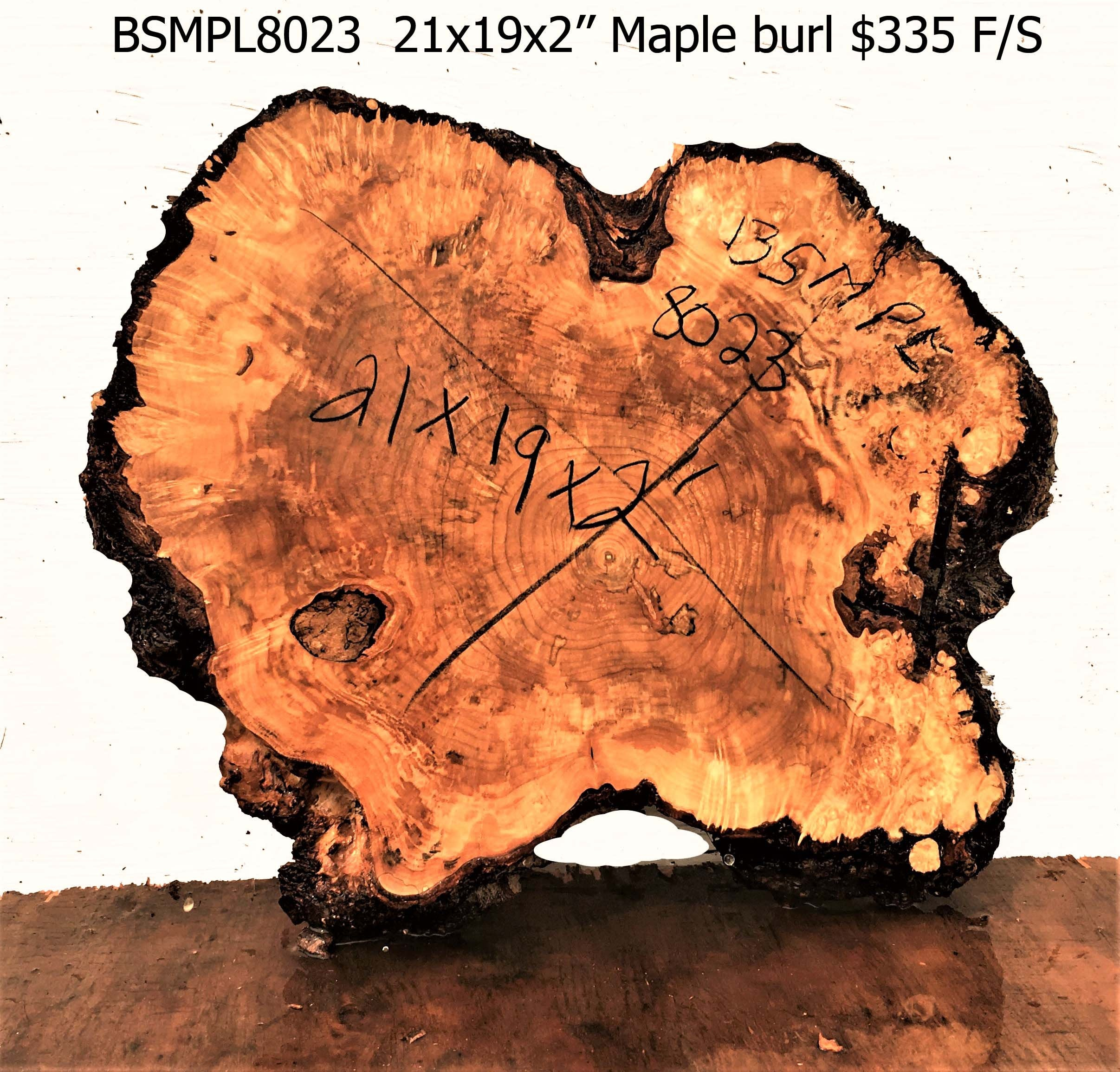 Maple burl slab | live edge table top | craft woods | bsmpl8023