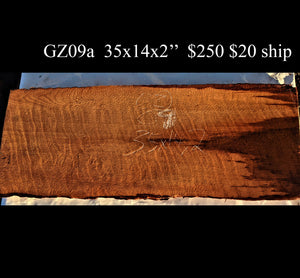 guitar billet | curly redwood | craft wood | carving wood- gz09