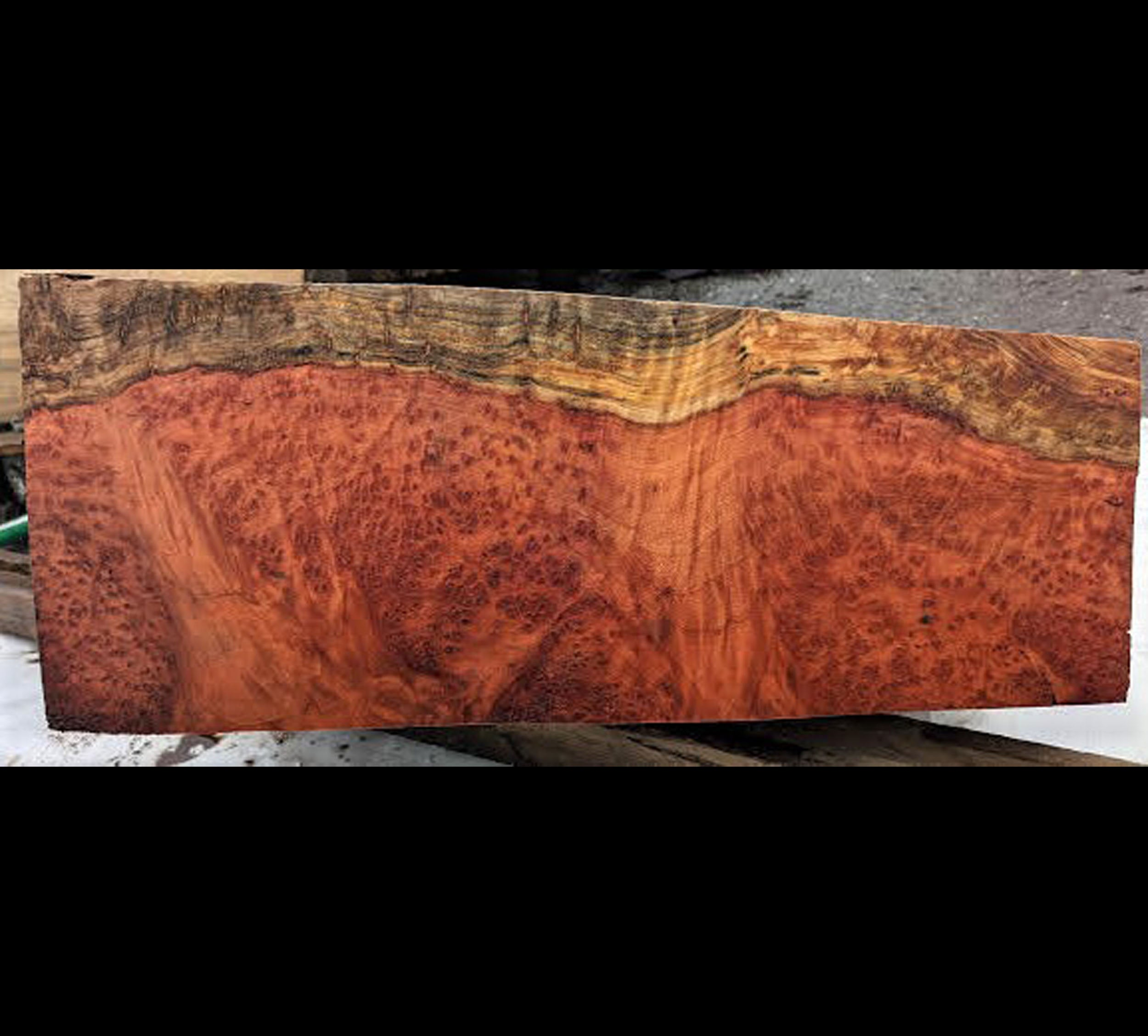 wood turning | curly redwood | craft wood - blz145