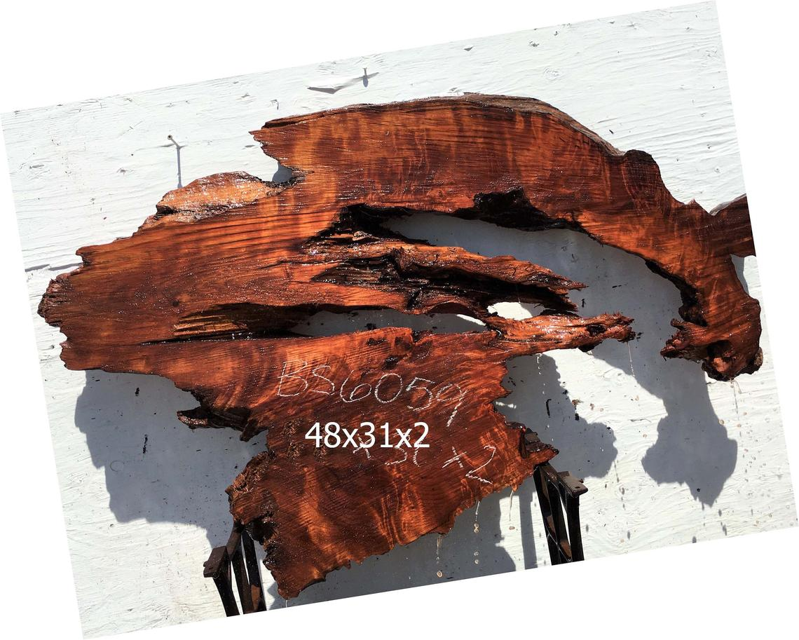 live edge redwood burl slab | river table | rustic table | bs6059