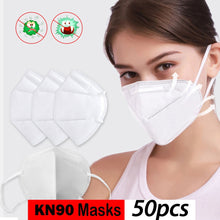 Load image into Gallery viewer, KN90 4-Ply Disposable Dustproof Face Mouth Masks Anti PM2.5 Anti Influenza Nonwoven Elastic Mouth Soft Breathable FFP2 Face Mask