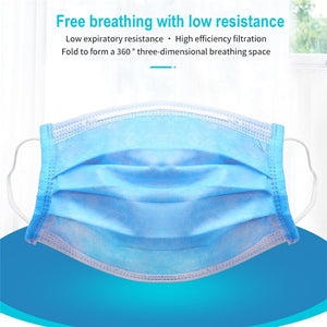 Medical Surgical Mask Face Mask Anti Dust Mouth Filter Anti Bacterial Disposable Mask 3 Layers Protective Baby Adult Masks