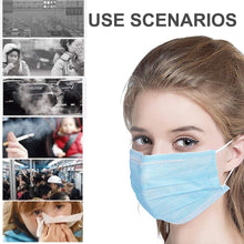 Load image into Gallery viewer, 50/100Pcs Disposable Medical Masks 3 Layer  Face Masks Breathable Mouth Masks Elastic Earloop