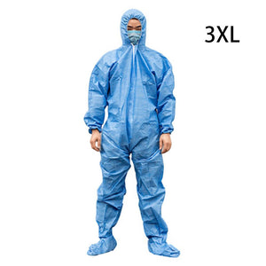 Medical Disposable Protective Clothing Suit Breathable Surgical Isolation Gown Blue Protective Coverall Hooded Boots