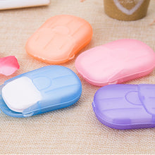 Load image into Gallery viewer, 20 40 50 100 pcs/Box Travel Washing Hand Bath Soap Paper Scented Slice Sheets Foaming Soap Case Paper Disposable Mini Soap TSLM2