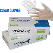Load image into Gallery viewer, 100/500 PCS/Set Food Plastic Gloves Disposable Gloves for Restaurant Kitchen BBQ Eco-friendly Food Gloves Fruit Vegetable Gloves